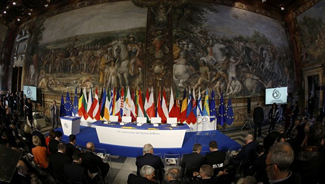 СтраныЕС подписали Римскую декларацию без Англии — Усеченный состав