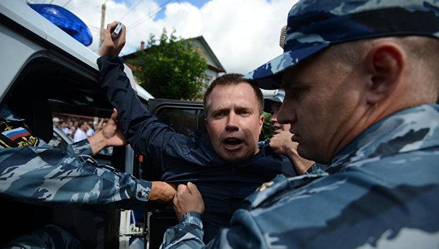 Лидера столичного отделения Партии прогресса Ляскина арестовали на 25 суток