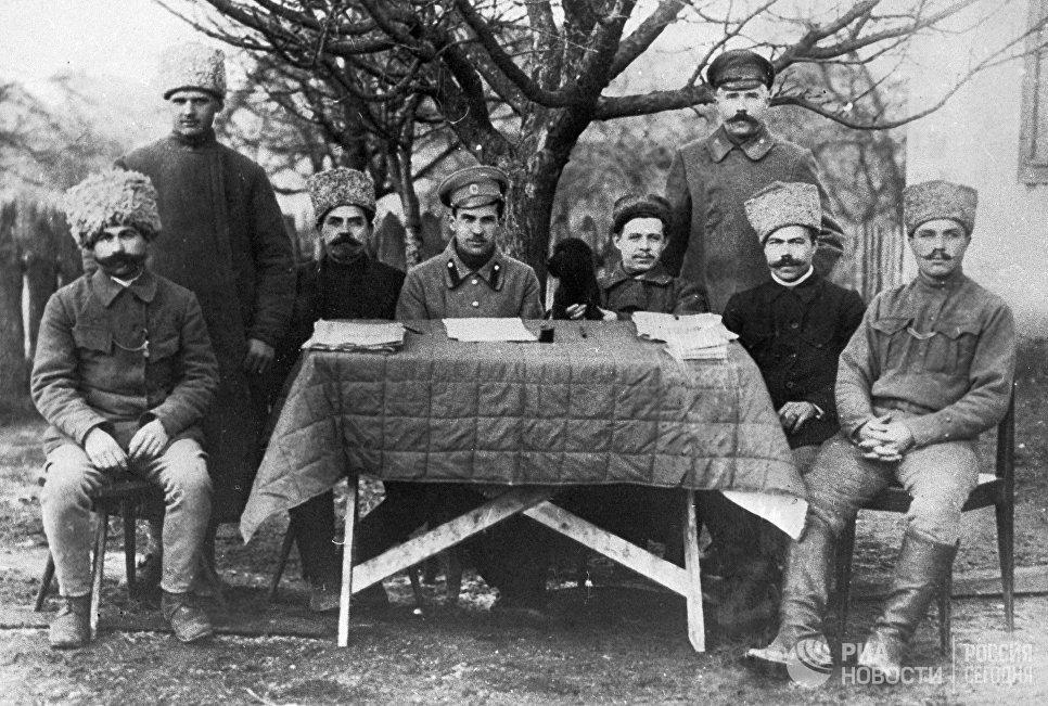 Военно-революционный Комитет одной из польских частей в городе Дубна под Москвой