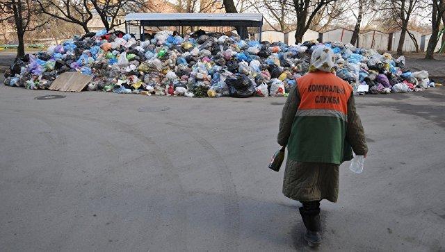 Невывезенный мусор во дворах Львова
