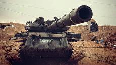 Бойцы сирийской армии во время наступления. Архивное фото