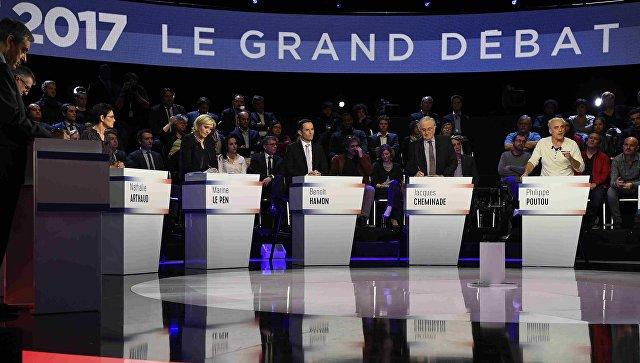 Теледебаты кандидатов в президенты Франции. 4 апреля 2017