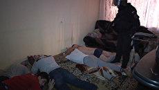 Кадры задержания предполагаемых вербовщиков террористов в Петербурге. Съемка ФСБ