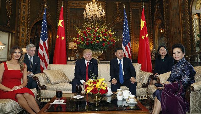 Встреча президента США Дональда Трампа и председателя КНР Си Цзиньпина. Архивное фото