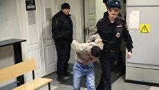 Подозреваемый в соучастии теракта в петербургском метро в Октябрьском районном суде Санкт-Петербурга. Архивное фото