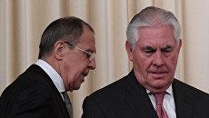 П/к министра иностранных дел РФ С. Лаврова и госсекретаря США Р. Тиллерсона. Архивное фото