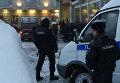 На месте взрыва на Васильевском острове в Санкт-Петербурге