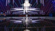 Главный приз конкурса Евровидение - хрустальный микрофон. Архивное фото