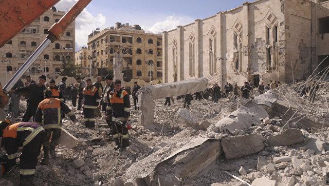 Последствия терракта в сирийском городе Алеппо. Архивное фото