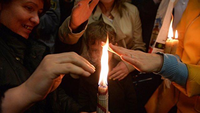 Встреча Благодатного огня в аэропорту Внуково