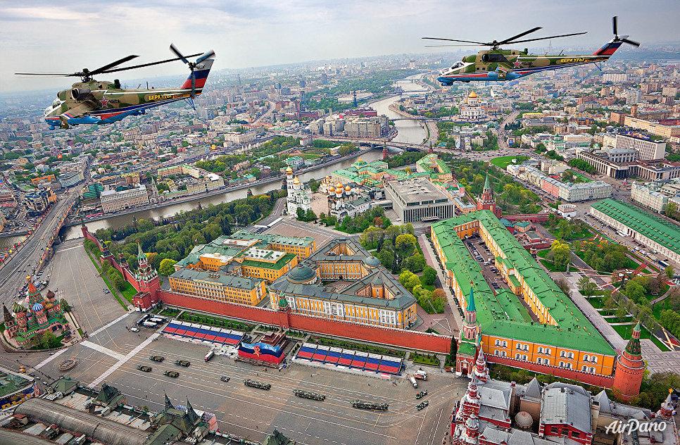 Беркуты над Красной площадью, Москва