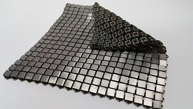 Фрагмент гибкой ткани-кольчуги напечатанной в НАСА при помощи 3D-принтера