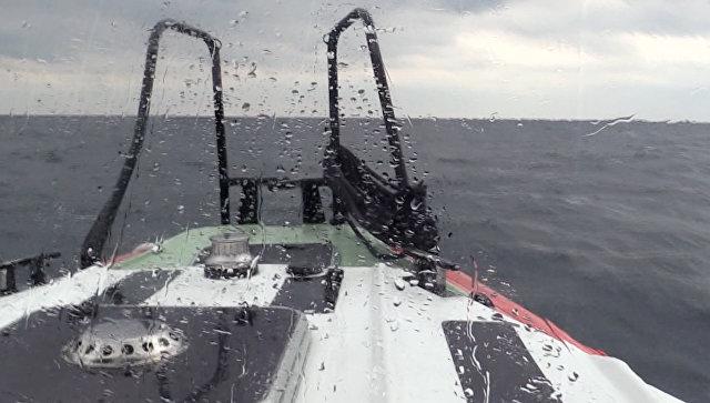 Поисково-спасательные операция в акватории Черного моря. Архивное фото