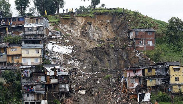 Жертвами оползней вКолумбии стали 14 человек