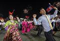 Праздничные мероприятия, приуроченные к 105-й годовщине со дня рождения основателя северокорейского государства Ким Ир Сена, в Пхеньяне