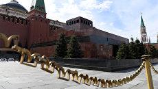 Мавзолей В.И. Ленина на Красной площади в Москве. Архивное фото