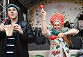 Выступление артистов на арт-фестивале для журналистов МедиаПасха в Москве