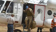 Генерал-майор бельгийской армии Жан-Поль Деконинк прибывает в Мали в рамках миротворческой миссии MINUSMA. 13 апреля 2017 года