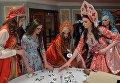 Участницы перед началом финала конкурса Российская красавица 2017 в Korston Club Hotel в Москве