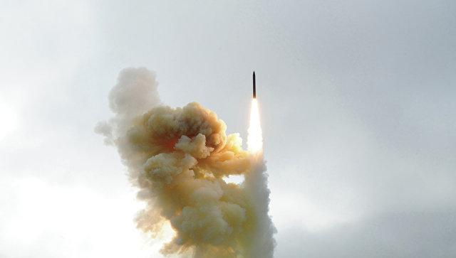 Пуск ракеты шахтного базирования системы Ground-Based Interceptor (GBI). Архивное фото