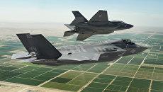 Американские истребители-бомбардировщики пятого поколения F-35 Lightning II