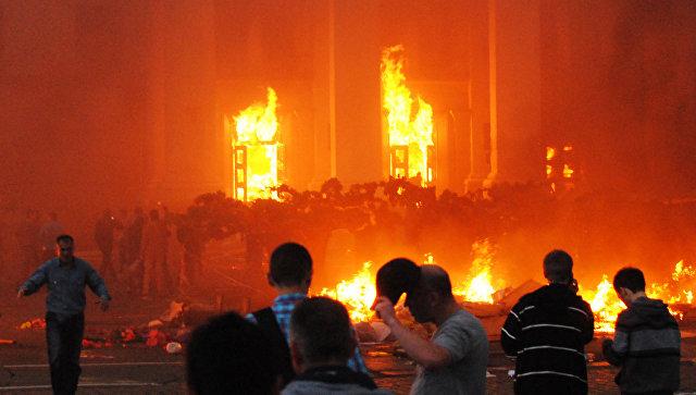 Пожар в Доме профсоюзов в Одессе. 2 мая 2014 года