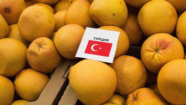 Турецкие мандарины в одном из магазинов. Архивное фото