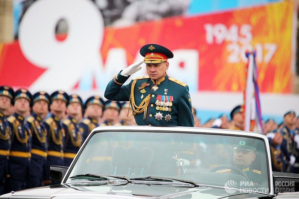 Министр обороны РФ генерал армии Сергей Шойгу во время военного парада на Красной площади в честь 72-й годовщины Победы в Великой Отечественной войне 1941-1945 годов