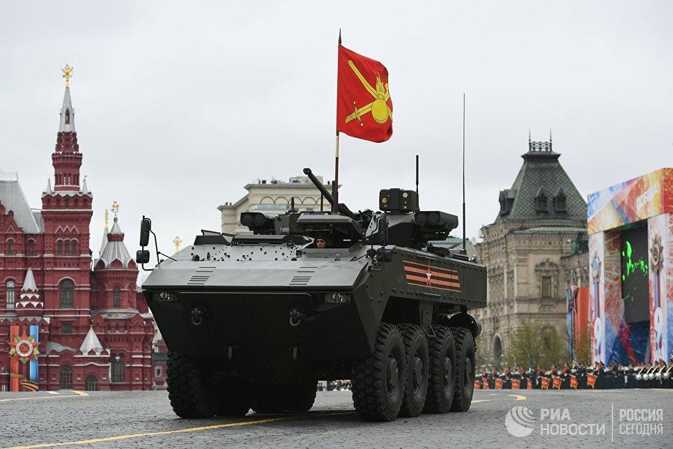 БМП на базе платформы ВПК-7829 Бумеранг на военном параде на Красной площади, посвященном 72-й годовщине Победы в Великой Отечественной войне 1941-1945 годов
