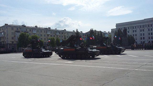 Репетиция Парада Победы в ЛНР. Архивное
