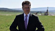Министр транспорта РФ Максим Соколов на церемонии открытия закладного камня в рамках начала строительства федеральной трассы Таврида в Крыму
