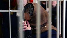 Бывший президент Внешпромбанка Лариса Маркус во время оглашения приговора в Хамовническом суде. 12 мая 2017