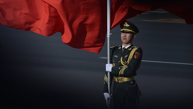 Почетный караул во время встречи лидеров стран-участниц форума Один пояс и один путь в Пекине