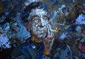 """Работа Михаила Копьева """"Портрет Игоря Северянина"""""""