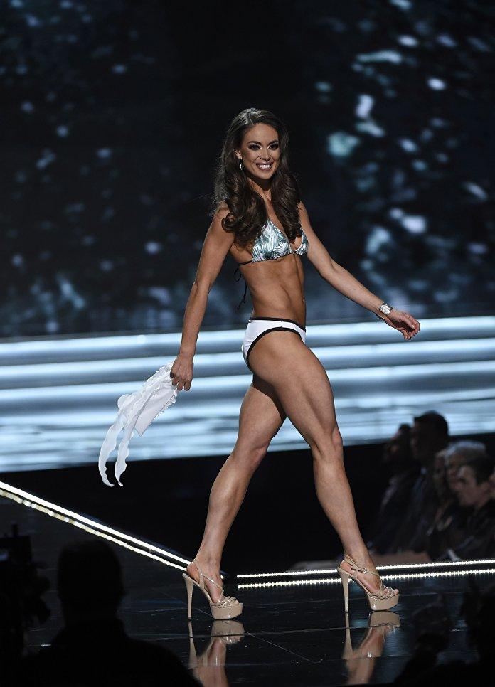 Мисс Аляска Алисса Лондон во время конкурса Мисс США в Лас-Вегасе