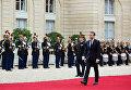 Избранный президент Франции Эммануэль Макрон на церемонии инаугурации в Париже