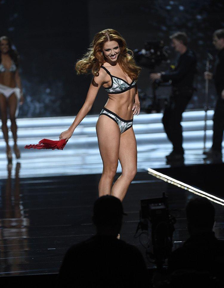 Мисс Нью-Йорк Ханна Лопа во время конкурса Мисс США в Лас-Вегасе