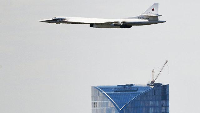 Стратегический бомбардировщик-ракетоносец Ту-160. Архивное фото