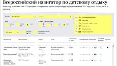 Всероссийский навигатор по детскому отдыху: лето 2017