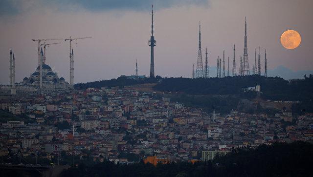 Вид на город Стамбул, Турция