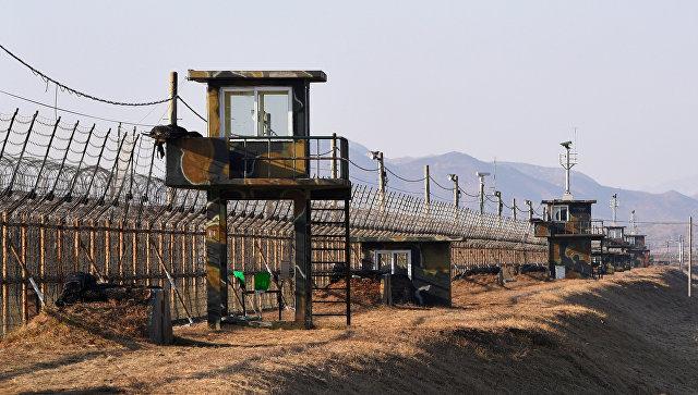 Граница Южной и Северной Кореи. Архивное фото