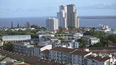 Вид на город Мапуту - столицу Народной Республики Мозамбик. Архивное фото