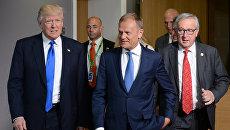 Президент США Дональд Трамп встретился с лидерами ЕС в Брюсселе. Архивное фото