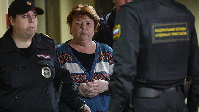 Бывший главный бухгалтер театральной труппы Седьмая студия Нина Масляева, задержанная после обысков в Гоголь-центре. Архивное фото