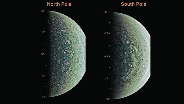 Зонд Juno сфотографировал кольца Юпитера изаписал его «музыку»