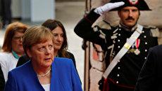 Канцлер ФРГ Ангела Меркель на саммите Большой семерки в Таормине, Италия. 26 мая 2017