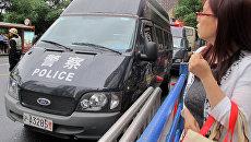 Автомобиль полиции в Шанхае, КНР. Архивное фото