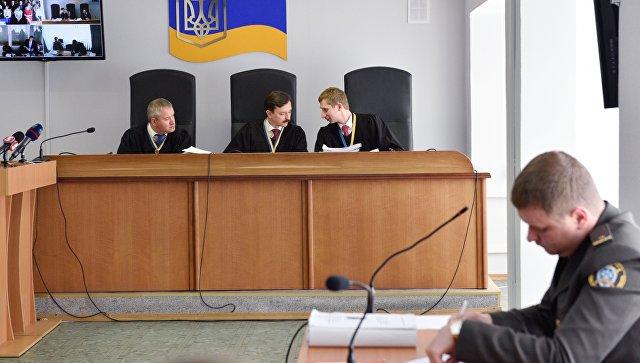 Заседание Оболонского суда Киева по делу бывшего президента Украины Виктора Януковича. 29 мая 2017