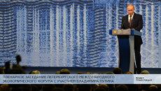 LIVE: Пленарное заседание ПМЭФ с участием Владимира Путина