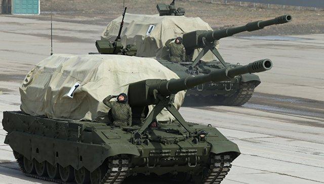 Самоходная артиллерийская установка Коалиция-СВ. Архивное фото